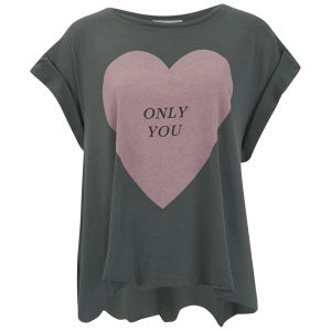 Wildfox Women's Only You Heart Print T-Shirt - Vintage Black