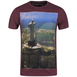 Conspiracy Men's Rio T-Shirt - Burgundy Melange