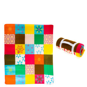 Fleece Picnic Rug Mediterranean Flower