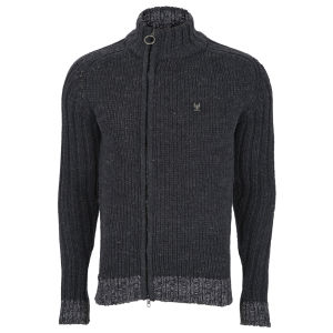 Ringspun Men's Glacier Point Zip Knit - Black