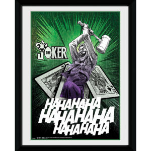 DC Comics Batman Comic The Joker Cards - 8x6 Framed Photographic