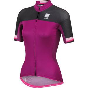 Sportful Bodyfit Pro Full Zip Jersey - Purple/Black