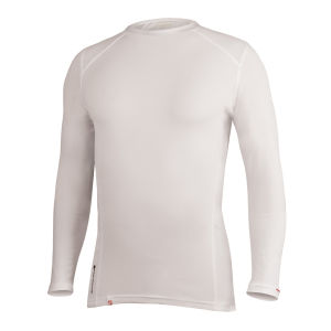 Endura Transmission II Long Sleeve Base Layer - White