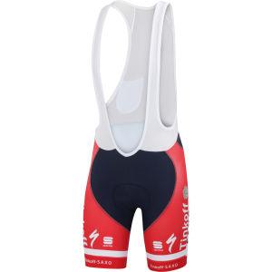 Tinkoff Saxo Team Replica Danish Champ Bodyfit Pro Bib Shorts - Red