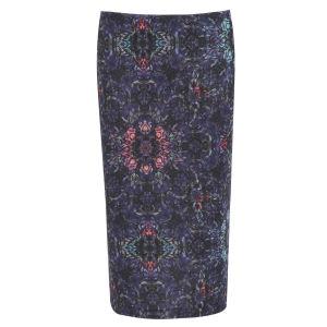 Damned Delux Women's Folk Pencil Skirt - Multi