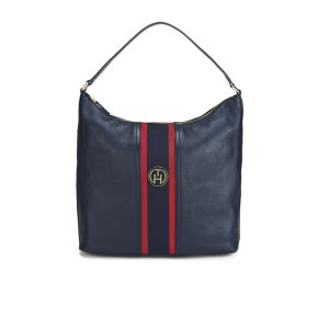 Tommy Hilfiger Women's Bella Leather Slouch Bag - Midnight