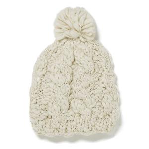 Impulse Women's Big Knitted Hat - Cream