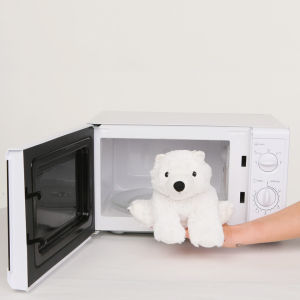 Cozy Heatable Plush Polar Bear Iwoot