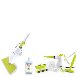 Beldray Steam Bundle - Green (inc 1500W Steam Mop, 1000W Handheld Steamer, and VAX 500ml Steam Cleaning Solution)