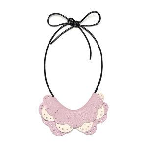 Anna Lou of London Doily Necklace - Pastel Pink