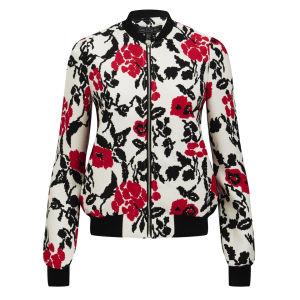 Girls On Film Women's Floral Bomber Jacket - Multi