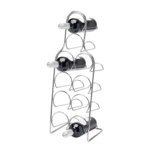 Hahn Pisa Wine Rack 10 Bottle - Chrome