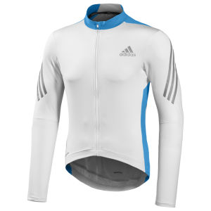Adidas Supernova Long Sleeve Jersey - White/Solar Blue