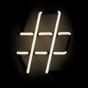 Seletti Neon Font Hashtag Shaped Wall Light - #