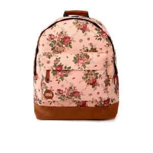Mi-Pac Premiums Cotton Rose Print Backpack - Peach