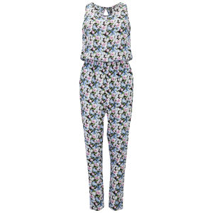 ONLY Women's Printed Sleeveless Jumpsuit - Multi
