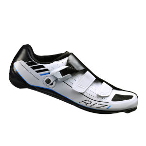 Shimano R171 Wide Fit Carbon Road Cycling Shoes - White