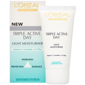 L'Oreal Paris Dermo-Expertise Triple Active Light Day Moisturiser - Normal/Combination (50ml)