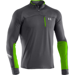Under Armour Men's Run 1/4 Zip Jacket - Graphite/Hyper Green/Reflective