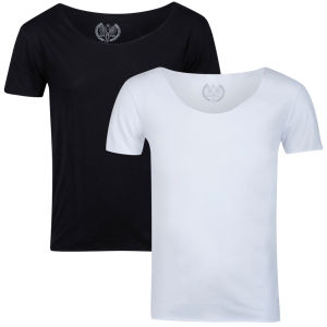 Brave Soul Men's Carnival 2-Pack Crew Neck T-Shirt - Black/White