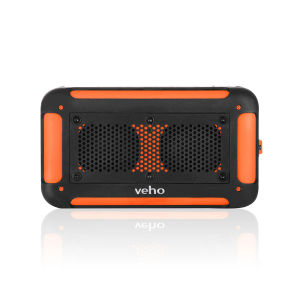 Veho Vecto Water Resistant Wireless Speaker with Integrated 6000mah Phone/Tablet Charger - Sports Orange