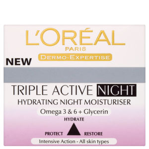 Увлажняющий ночной крем L'Oreal Paris Dermo Expertise Triple Active Hydrating Night Moisturiser (50 мл)