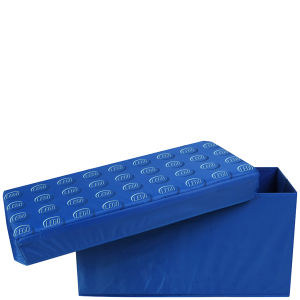 LEGO: Blue Classic Storage Box Bench   IWOOT