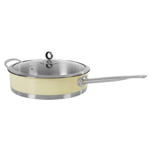 Morphy Richards 46352 Accents 28cm Saute Pan with Glass Lid - Cream