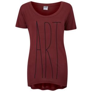 Vero Moda Women's Slogan T-Shirt - Rosewood