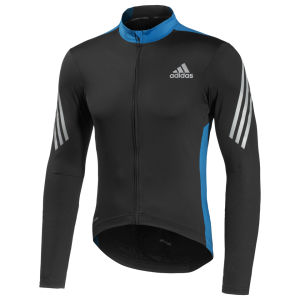 Adidas Supernova Long Sleeve Jersey - Black/Solar Blue