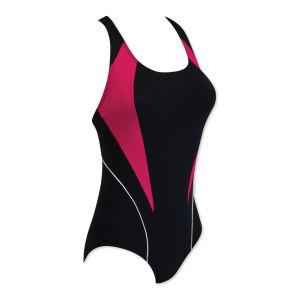 Zoggs Women's Noosa Flyback Swimsuit - Black/Pink/White