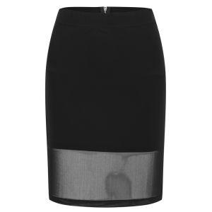 Vero Moda Women's Vera Mesh Detail Skirt - Black