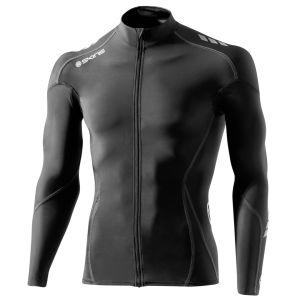 Skins C400 Men's Compression Long Sleeve Jersey - Black/Grey