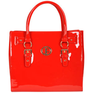 Jack French Women's 'The Mount' Patent Leather Tote Bag - Red