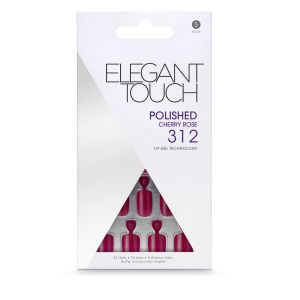 Elegant Touch Polished Nails - Cherry Rose