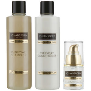 Jo Hansford Expert Colour Care Everyday Shampoo, Conditioner (250ml) med Mini Illuminoil (15 ml)