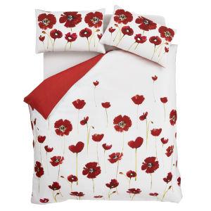 Catherine Lansfield Poppies Bedding Set - Multi