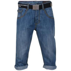 Smith & Jones Men's Belted Trip Denim Shorts - Lightwash