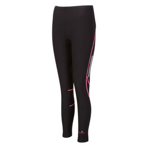 RonHill Women's Vizion Winter Tights - Black/Fluorescent Pink