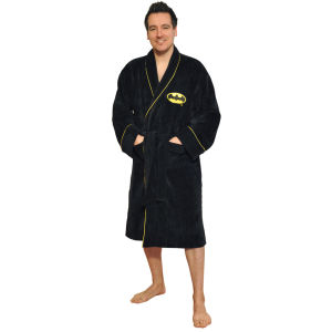 DC Comics Batman Towelling Bathrobe - Black (One Size)