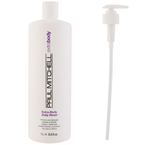 Paul Mitchell Extra Body Daily Rinse (1000 ml) with Pump (Bundle)