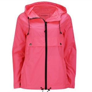 Ilse Jacobsen Women's Short Rain Jacket - Neon Coral