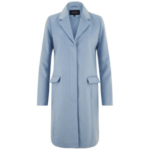 VILA Women's Stilly Wool Coat - Blue Frog