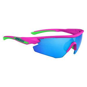 Salice 012 RW Sport Sunglasses - Fuchsia/Blue