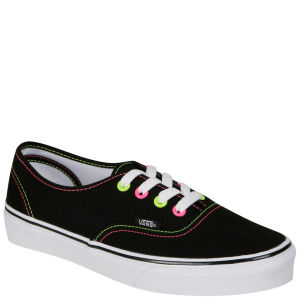 Vans Authentic Canvas Trainers - Neon Black/Pink