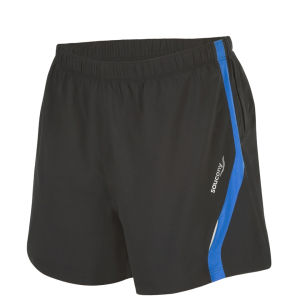 Saucony Men's Throttle Short - Black/Enduro Blue
