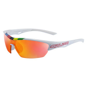 Salice 011 CDMRWP Sunglasses - White/Mirror Polarised Red