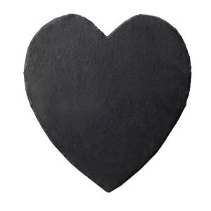 Slate Heart Mat - Black