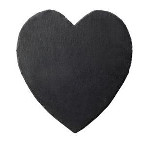 Slate Heart Mat - Black