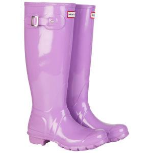 Hunter Women's Original Gloss Tall Wellies - Lavender